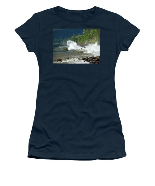 Stormy Lake Women's T-Shirt (Junior Cut) by Leone Lund