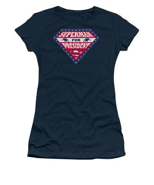 Superman - Superman For President Women's T-Shirt