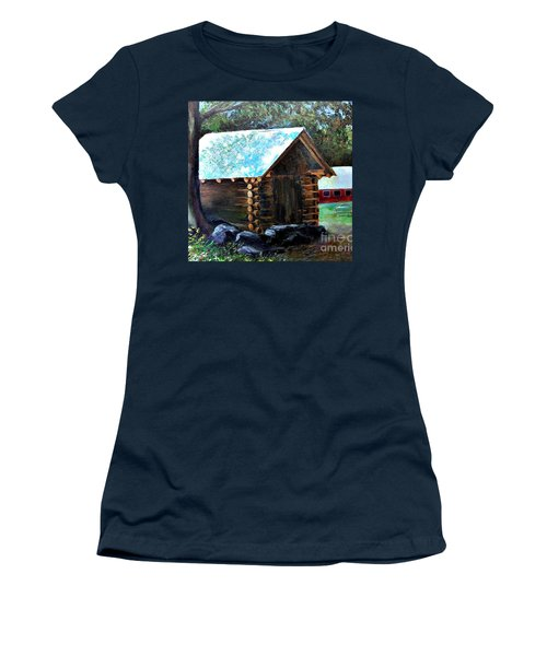 Tessentee Cabin Women's T-Shirt (Athletic Fit)