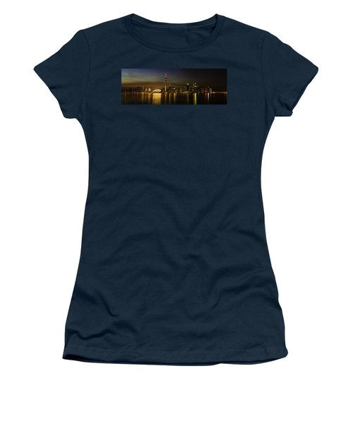 Toronto Evening Sky Line Panorama Women's T-Shirt (Athletic Fit)