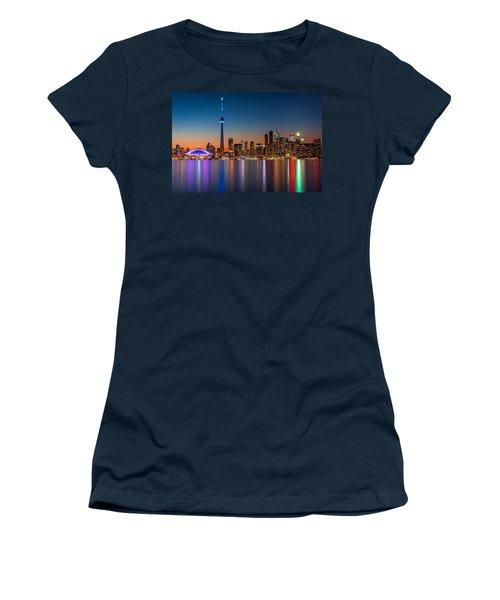 Toronto Skyline At Dusk Women's T-Shirt