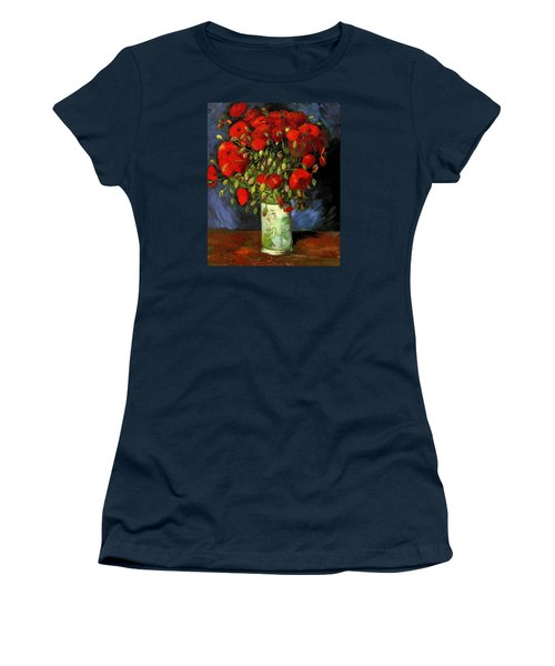 Vase With Red Poppies Women's T-Shirt