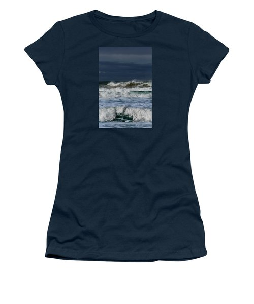 Women's T-Shirt (Junior Cut) featuring the photograph Wave After Wave by Edgar Laureano
