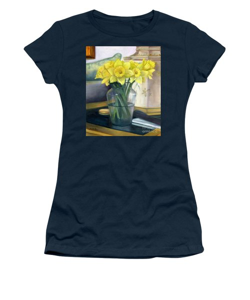 Yellow Daffodils Women's T-Shirt (Athletic Fit)