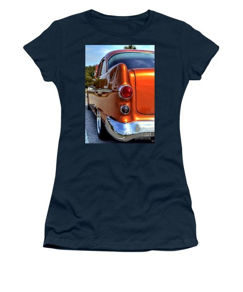 Women's T-Shirt (Junior Cut) featuring the photograph 1955 Pontiac by Kathy Baccari