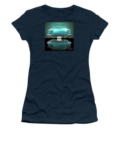 1959 Ford T Bird Women's T-Shirt (Junior Cut) by Jim Carrell