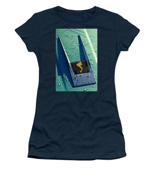 Women's T-Shirt featuring the photograph 1963 Studebaker Avanti Hood Ornament by Jill Reger