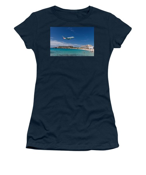 American Airlines At St Maarten Women's T-Shirt (Athletic Fit)