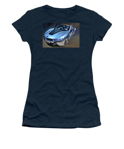 B M W  I8  Concept  2014 Women's T-Shirt (Athletic Fit)