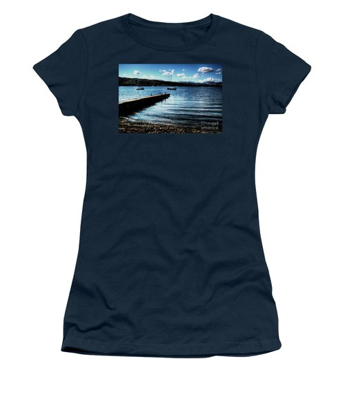 Women's T-Shirt (Junior Cut) featuring the photograph Boats In Wales by Doc Braham