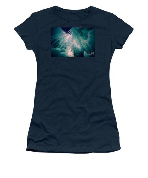 Ice Castle Women's T-Shirt (Junior Cut) by Edward Fielding
