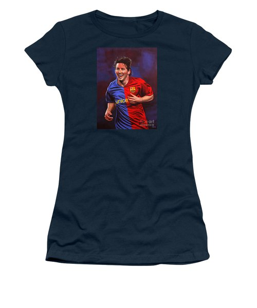 Lionel Messi  Women's T-Shirt (Athletic Fit)