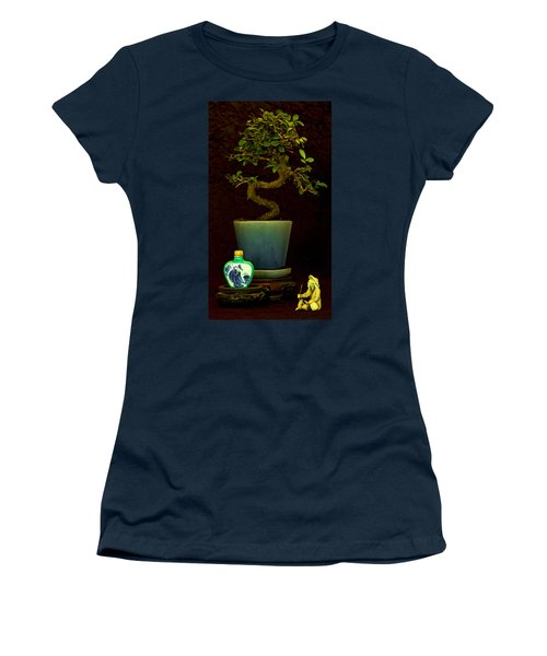 Old Man And The Tree Women's T-Shirt (Junior Cut) by Elf Evans