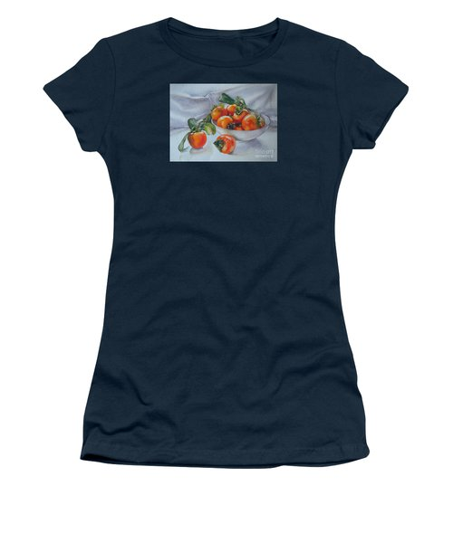 Summer Harvest  1 Persimmon Diospyros Women's T-Shirt (Athletic Fit)