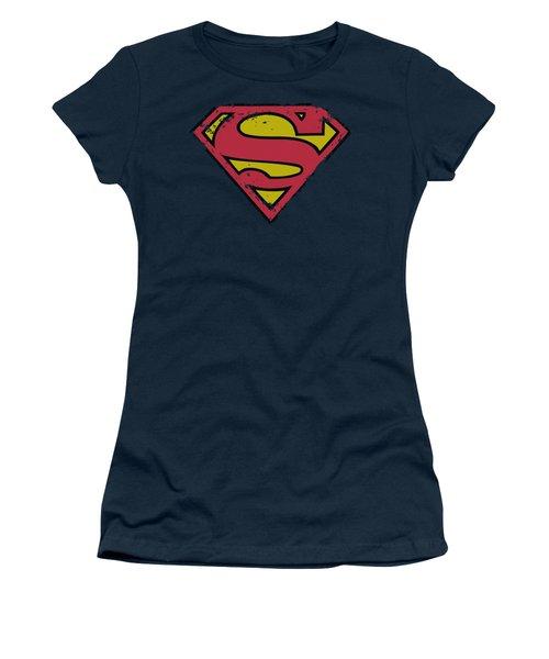 Superman - Distressed Shield Women's T-Shirt