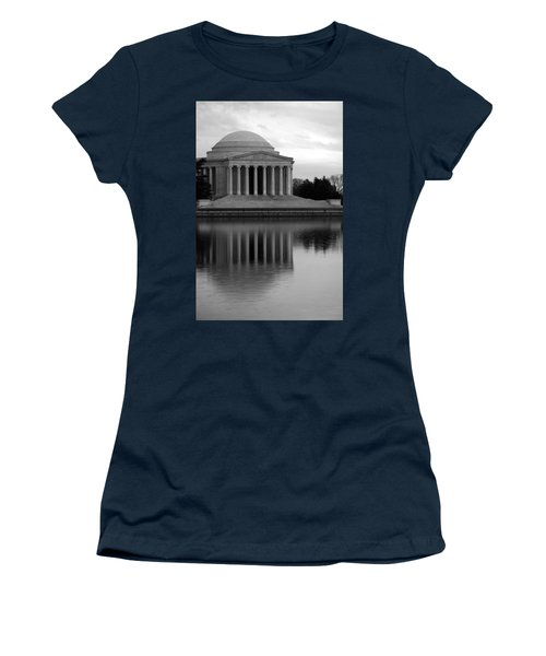 Women's T-Shirt (Junior Cut) featuring the photograph The Jefferson Memorial by Cora Wandel