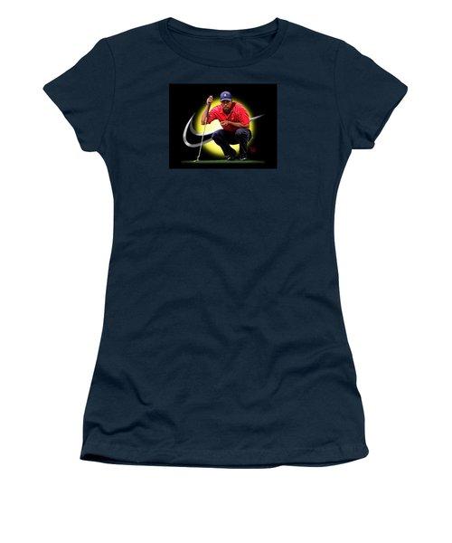 Tiger Eyes Women's T-Shirt (Junior Cut) by Scott Ross