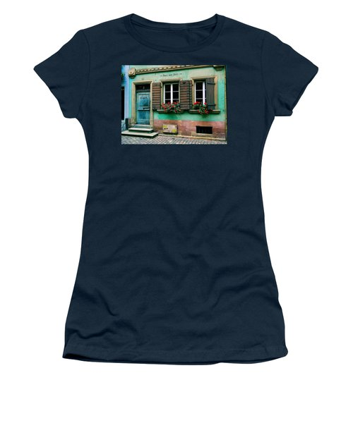 Women's T-Shirt (Junior Cut) featuring the photograph Windows And Doors 6 by Maria Huntley