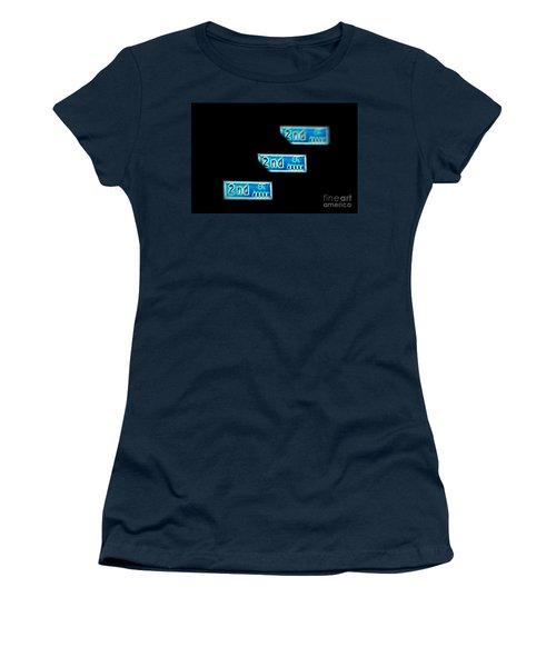 Women's T-Shirt (Junior Cut) featuring the photograph 2nd Street Long Beach by Mariola Bitner