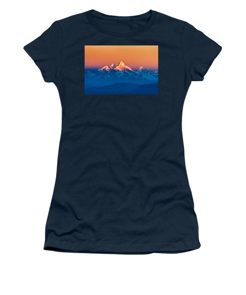 Himalayan Mountains View From Mt. Shivapuri Women's T-Shirt (Athletic Fit)