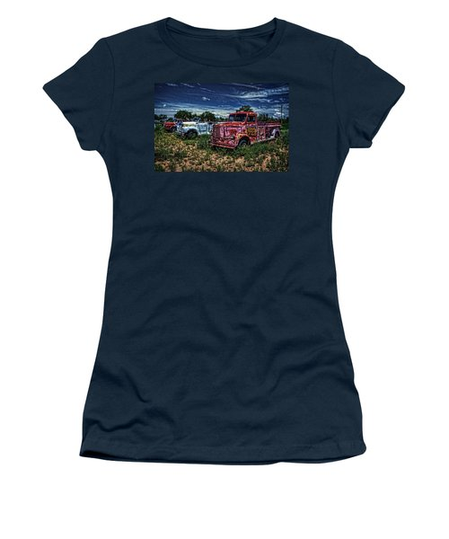 Women's T-Shirt (Junior Cut) featuring the photograph 3 In A Row by Ken Smith
