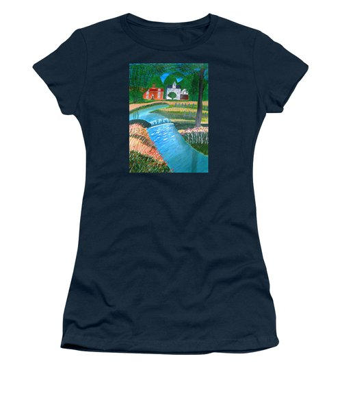 A Country Stream Women's T-Shirt (Athletic Fit)