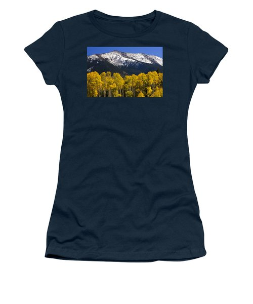 A Dusting Of Snow On The Peaks Women's T-Shirt