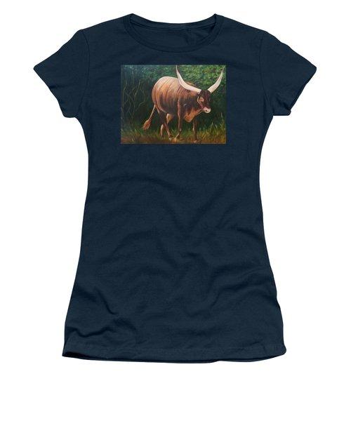 A Lot Of Bull, Watusi  Women's T-Shirt (Athletic Fit)