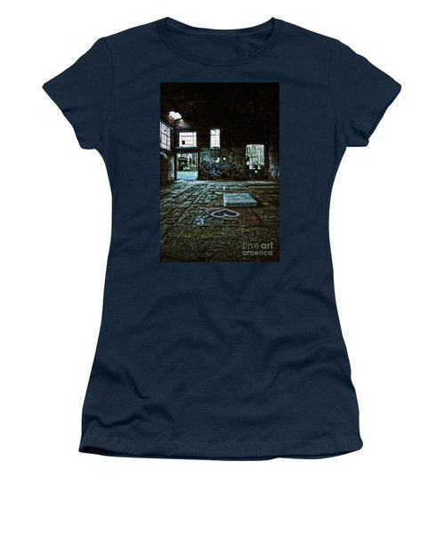 Women's T-Shirt (Junior Cut) featuring the photograph A Place With Heart by Debra Fedchin