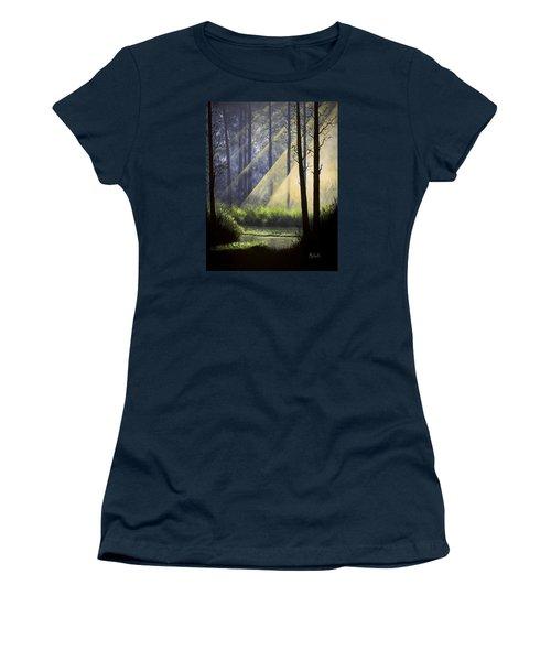 A Quiet Place Women's T-Shirt (Junior Cut) by Jack Malloch