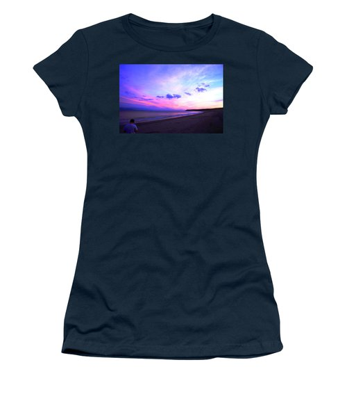 A Walk On The Beach Women's T-Shirt (Junior Cut) by Jason Lees