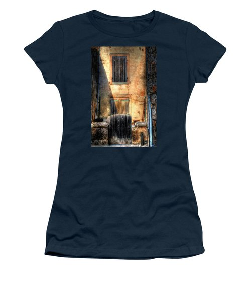 Women's T-Shirt (Junior Cut) featuring the photograph A Yard In France by Tom Prendergast