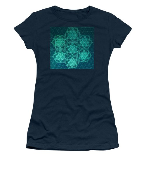Adrift In Space Time Women's T-Shirt (Junior Cut) by Jason Padgett