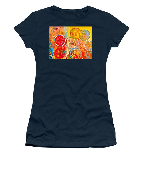 Against The Rain Abstract Orange Women's T-Shirt (Junior Cut)