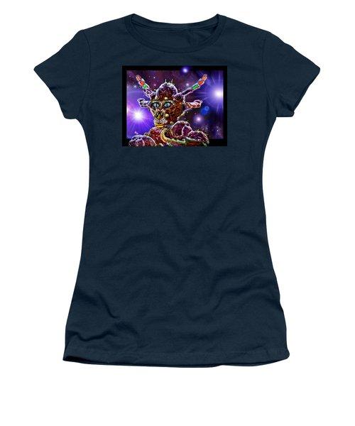 Women's T-Shirt (Junior Cut) featuring the digital art Alien Portrait by Hartmut Jager