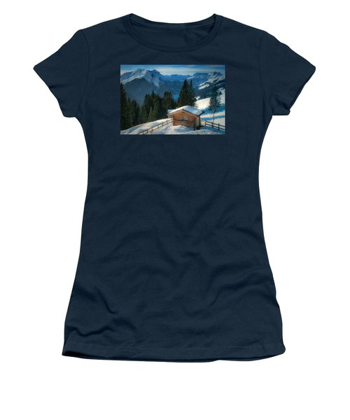 Alpine View Women's T-Shirt (Athletic Fit)
