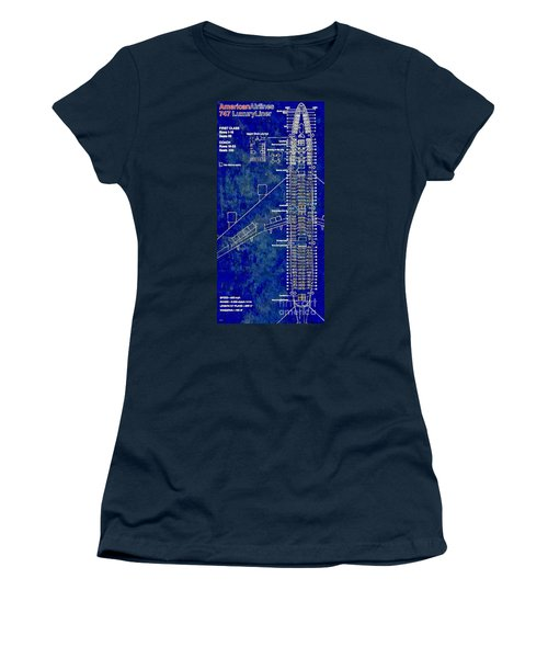 American Airlines 747 Women's T-Shirt (Junior Cut) by Daniel Janda