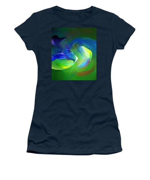Women's T-Shirt (Junior Cut) featuring the digital art Aquatic Illusions by David Lane