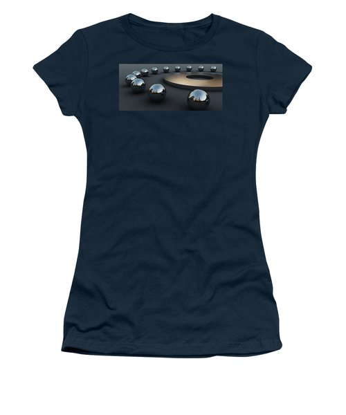 Women's T-Shirt (Junior Cut) featuring the digital art Around Circles by Richard Rizzo