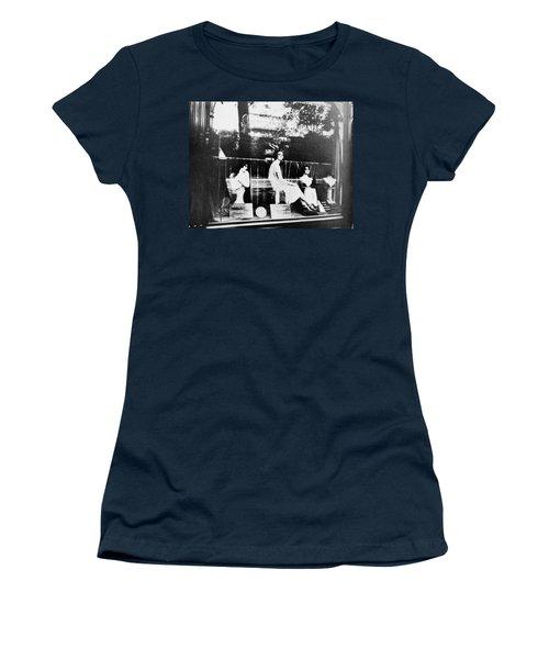 Women's T-Shirt (Junior Cut) featuring the photograph Atget Hairdresser, C1920 by Granger