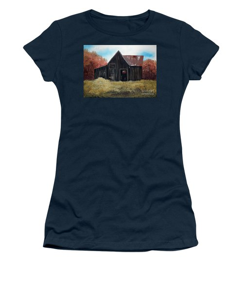 Autumn - Barn -orange Women's T-Shirt (Athletic Fit)