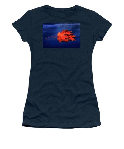 Autumn Fire Women's T-Shirt (Junior Cut) by Leena Pekkalainen