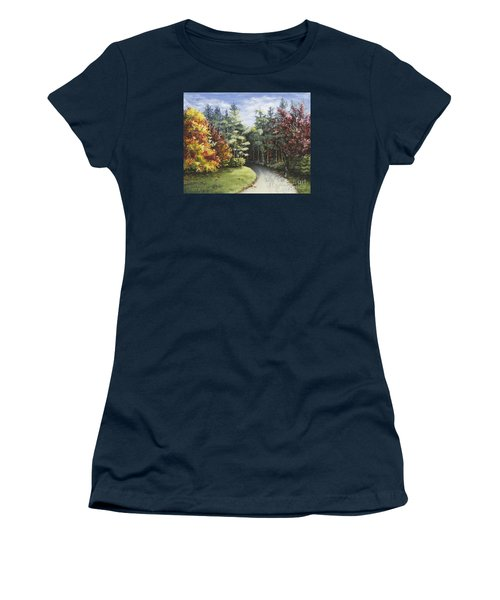 Autumn In The Arboretum Women's T-Shirt