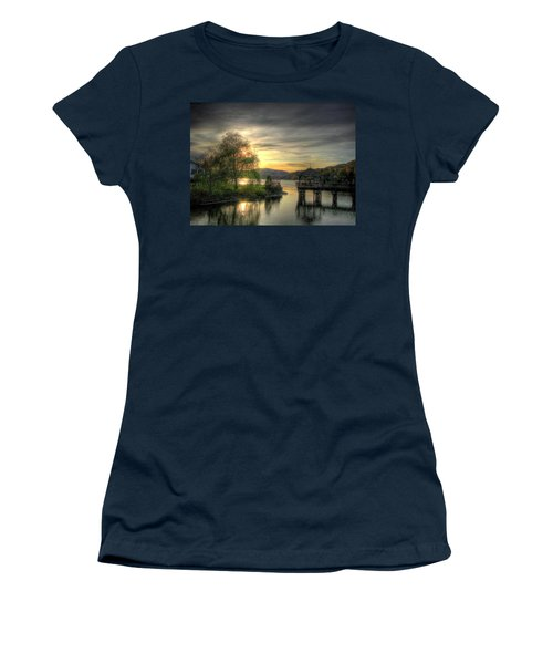 Women's T-Shirt (Junior Cut) featuring the photograph Autumn Sunset by Nicola Nobile