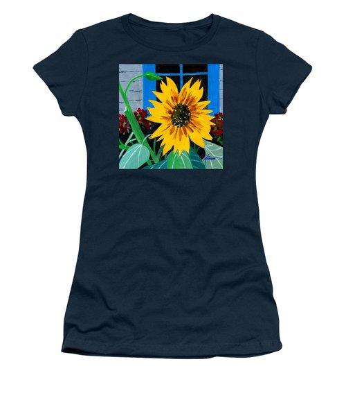 Backyard Flowers  Women's T-Shirt