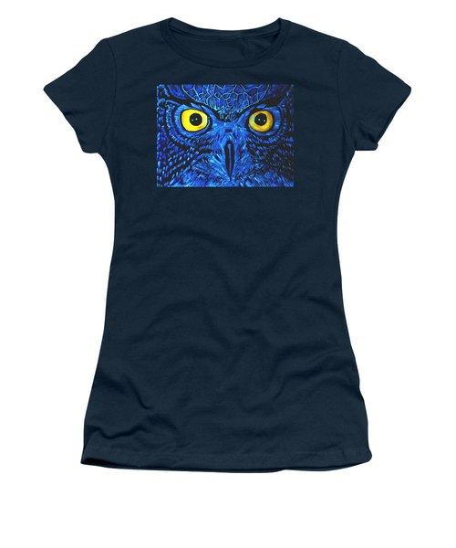 Barney Black Light View Women's T-Shirt (Junior Cut) by Lisa Brandel