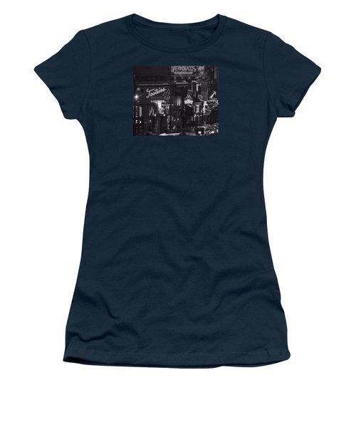 Bars On Broadway Nashville Women's T-Shirt (Junior Cut) by Dan Sproul