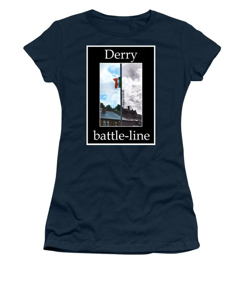 Battleline Women's T-Shirt (Junior Cut) by Nina Ficur Feenan