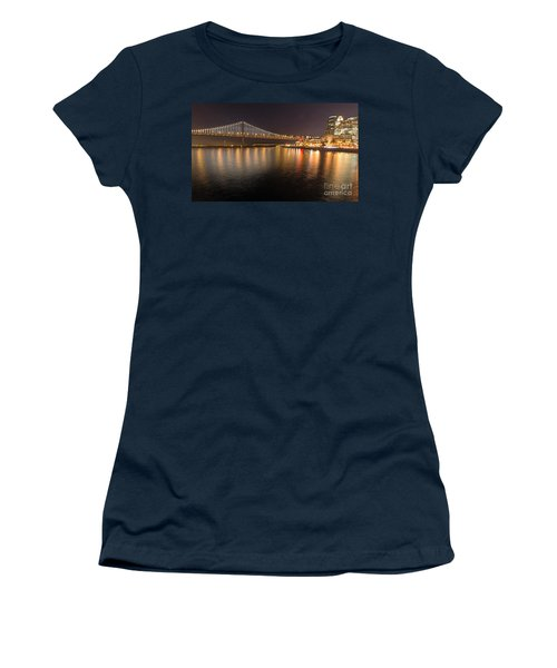 Bay Bridge Lights And City Women's T-Shirt