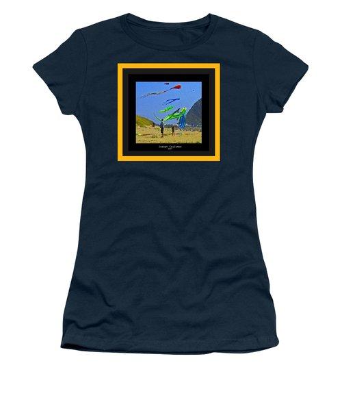 Beach Kids 4 Kites Women's T-Shirt